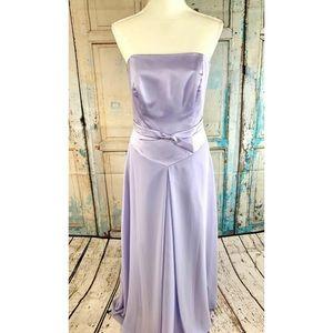 ALFRED ANGELO Chiffon Strapless Bridesmaid Dress